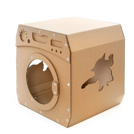 Wash Cardboard Cat House front left