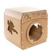 Wash Cardboard Cat House front right – jump and enjoy the perfect wash