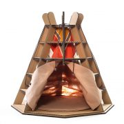 Wigwam Cardboard Cat House front – release your pet's fighting spirit