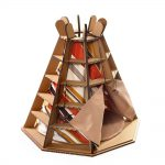 Wigwam Cardboard Cat House front left – release your pet's fighting spirit