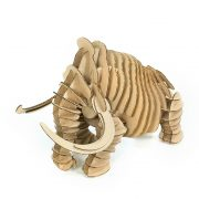 Wooly Mammoth 3D Cardboard Puzzle front left