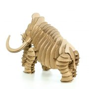 Wooly Mammoth 3D Cardboard Puzzle rear left
