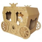 Carriage Cardboard Cat House with cat5