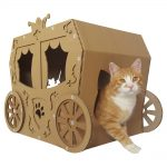 Carriage Cardboard Cat House with cat6