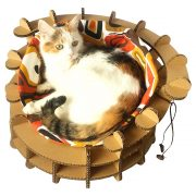 Colliseum Cardboard Cat House with cat2