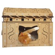 Dead Man's Chest Cardboard Cat House with cat4