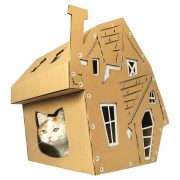 Halloween Cardboard Cat House with cat3