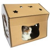 Hello Kitty Cardboard Cat House with cat2