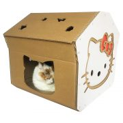 Hello Kitty Cardboard Cat House with cat3