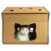 Hello Kitty Cardboard Cat House with cat4
