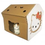 Hello Kitty Cardboard Cat House with cat5