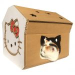 Hello Kitty Cardboard Cat House with cat6