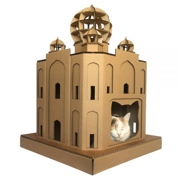 taj mahal cardboard cat house masterpiece for your kitty explorer. Black Bedroom Furniture Sets. Home Design Ideas
