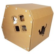 Modern Cardboard Cat House with cat 7