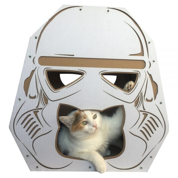 Trooper Cardboard Cat House with cat3
