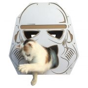 Trooper Cardboard Cat House with cat6