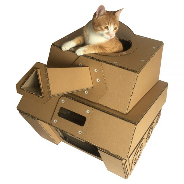 tank cardboard cat house military spirit awakens in your. Black Bedroom Furniture Sets. Home Design Ideas