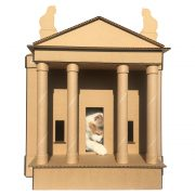 The Temple Cardboard Cat House with cat2