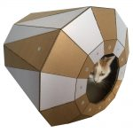 Twist Cardboard Cat House with cat3