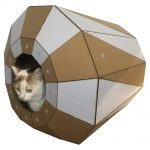 Twist Cardboard Cat House with cat2