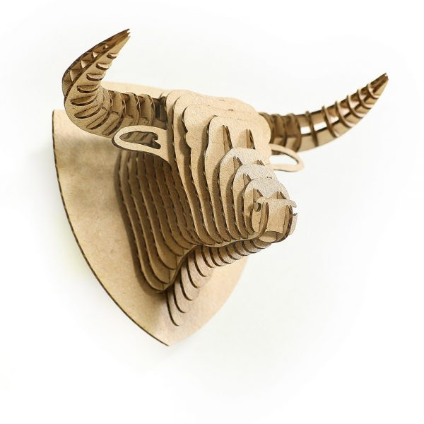 Bull 3d puzzle magnet bottom left