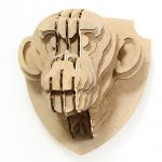 Chimpanzee 3d puzzle cardboard magnet bottom right