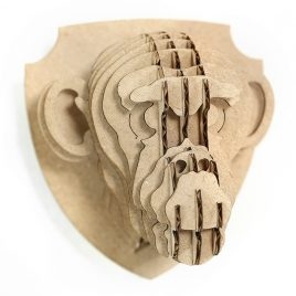 Chimpanzee 3d puzzle cardboard magnet front left