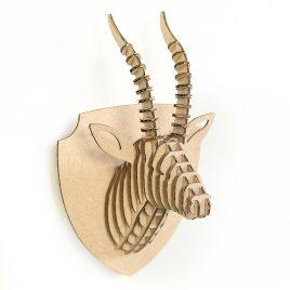 Gazelle cardboard 3d puzzle magnet front left