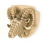Ram 3d cardboard puzzle magnet top right