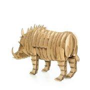 Wild Boar 3D Cardboard Puzzle rear left