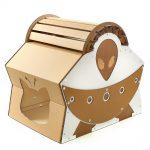 UFO Alien Spacecraft Cardboard Cat House