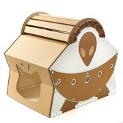 UFO Alien Spacecraft Cardboard Cat House