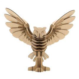Owl Cardboard 3D Puzzle 2