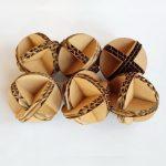 6 cardboard balls
