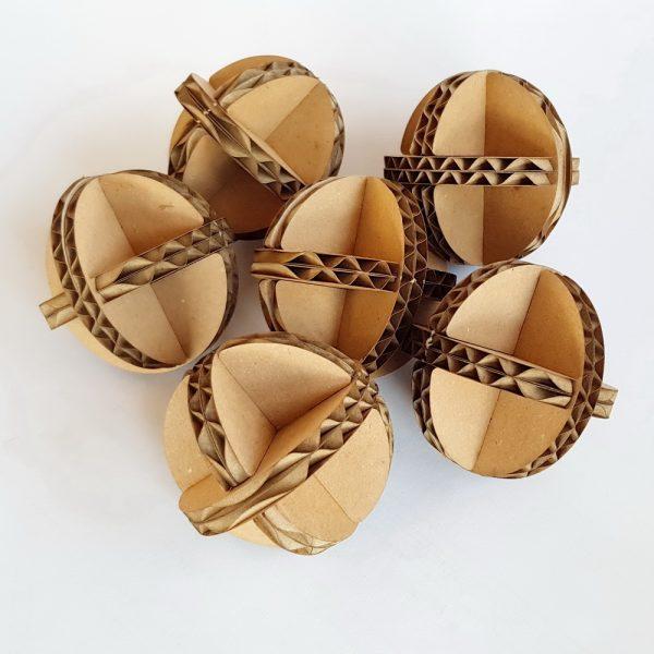 6 cardboard balls 2