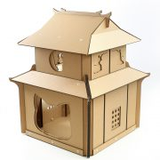 Japanese Samurai Cardboard Cat House front right