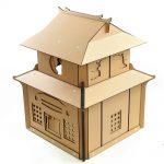Japanese Samurai Cardboard Cat House rear left 1