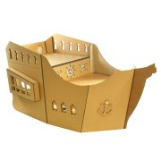 Pirate Ship Cardboard Cat House front left