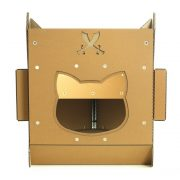 Pirate Ship Cardboard Cat House rear