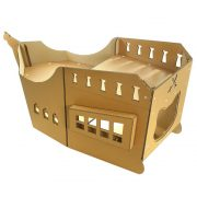 Pirate Ship Cardboard Cat House top left