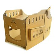 Pirate Ship Cardboard Cat House top right