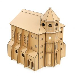 The Church Cardboard Cat House front left
