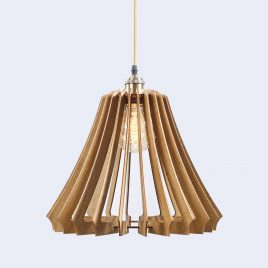 Carmen Original Wooden Modern Pendant Light Chandelier nut color front second view
