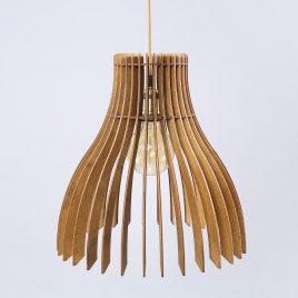 Elizabeth Original Wooden Modern Pendant Light Chandelier nut color front view