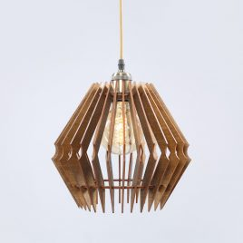 Emily Original Wooden Modern Pendant Light Chandelier nut color front second view