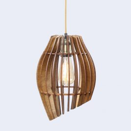 Emma Original Wooden Modern Pendant Light Chandelier nut color front second view