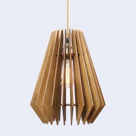 Evelyn Original Wooden Modern Pendant Light Chandelier nut color front second view