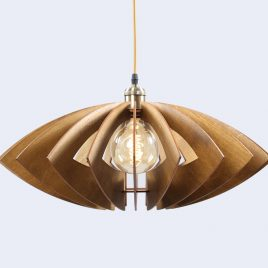 Isabella Original Wooden Modern Pendant Light Chandelier nut color front second view