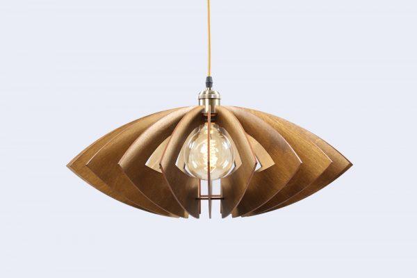 Isabella Original Wooden Modern Pendant Light Chandelier nut color front second view