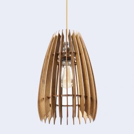 Jennifer Original Wooden Modern Pendant Light Chandelier nut color bottom view